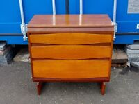 White and Newton teak chest of drawers
