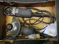 2 x Bosch GWS21-230H angle grinders