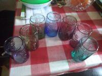SET OF SEVEN COCA COLA GLASSES