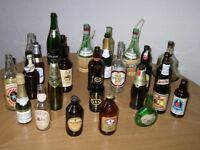 Beer bottle collection.