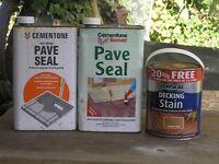 Decking & paving seal/stain
