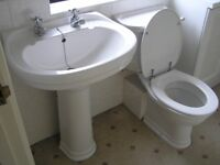 Basin (pedestal) and WC by Imperial Bathroom.