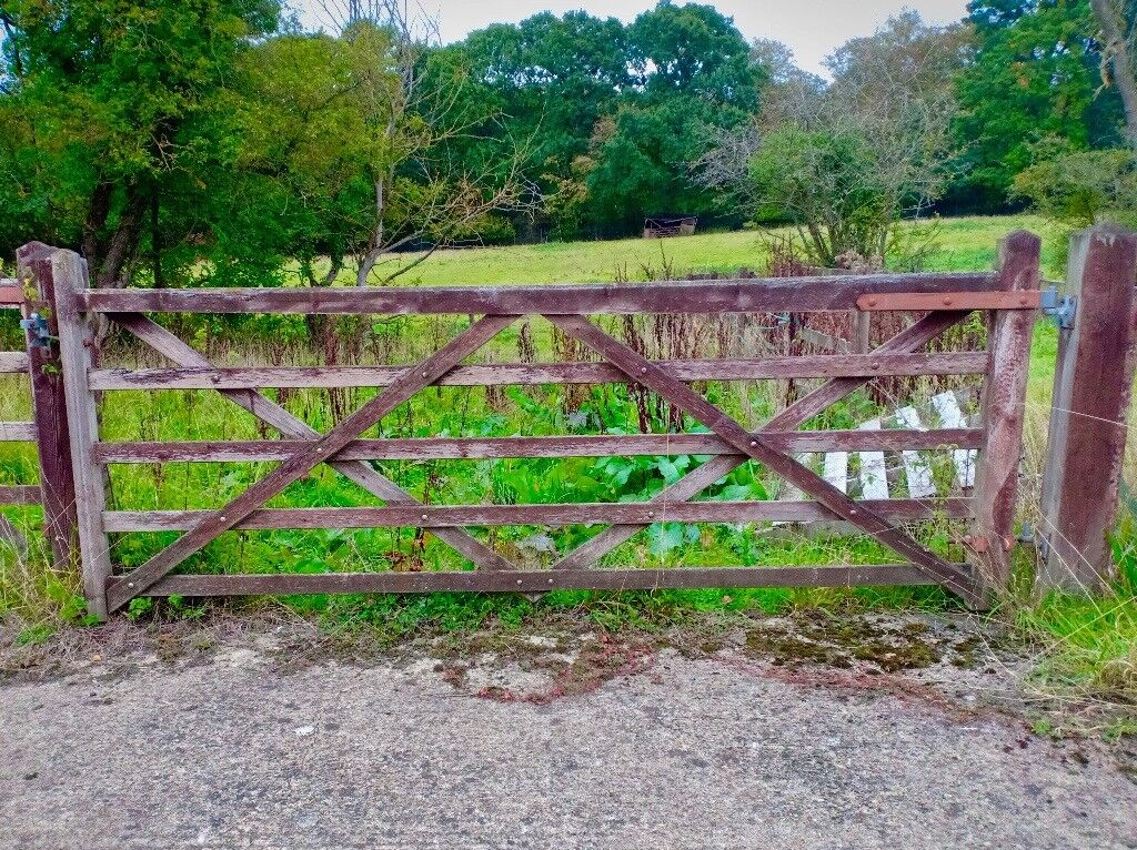 5 Bar Hardwood Field Gate 10ft X 4ft Wooden Timber Farm Equine Equestrian Yard In Send Surrey Gumtree