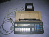 FAX MACHINE including 5 unwrapped rolls of sensitised paper
