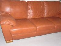 Natuzzi - Brown leather sofa - very good condition