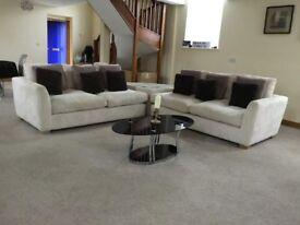 Large cream corner suite as new