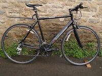 Claud Butler Levante Flat-Bar Road Bike - 56cm Frame Excellent Condition