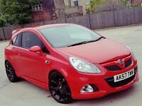 2008 VAUXHALL CORSA 1.6 VXR 3 DOOR RED REMAPPED 220+BHP LONG MOT GOOD RUNNER NOT ASTRA