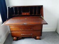 Art Deco Bureau Writing Desk with Drawers