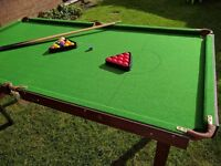 6ft x 3ft Snooker & Pool Table