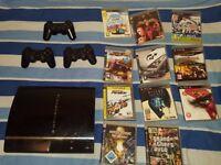 PlayStation 3 HDD 80GB 3X Controller 11X Games