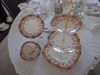Royal Albert crown China trio with cake stand