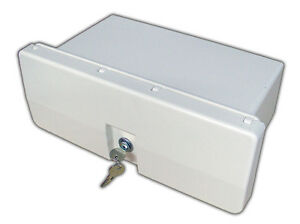 MARINE-WHITE-LOCKING-GLOVE-BOX-STORAGE-LOCKER-FOR-BOAT-RV-FIVE-OCEANS