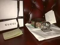 Mens womens Gucci belt waist 32-34 bengal tiger design