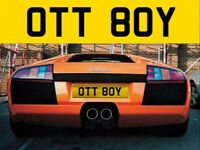 OTT BOY - ( OTT 80Y ) Cherished private personalised registration number plate