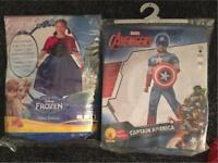Kids joblot Halloween fancy dress costume captain America and frozen
