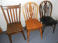 Chairs for Upholstery or Up-cycling - See All Photos - £10 each