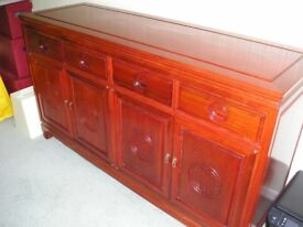 Chinese Solid Rosewood Sideboard.