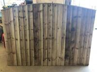 🦔 HEAVY DUTY TANALISED WOODEN BOW TOP GARDEN FENCE PANELS