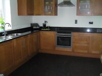 Cherry Oak kitchen cupboard doors/2 wall cabinets/drawer fronts/side panels/skirting and plinths