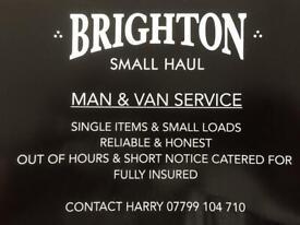 Man and van service Brighton .07799104710