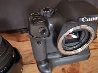Canon 550d (+ battery grip + 3 lenses + bag)