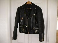 Genuine leather Biker Jacket 38 chest. Unisex.