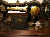 Working vintage spindle sewing machine