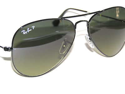 RAY BAN sunglasses 3025 002/76 POALRIZED AVIATORS NEW 58