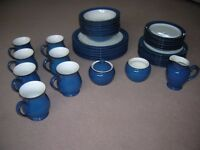 DENBY BOSTON BLUE TABLEWARE, ALL ITEMS AVAILABLE INDIVIDUALLY