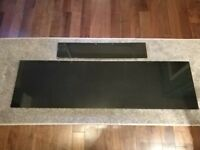 Black marble hearth