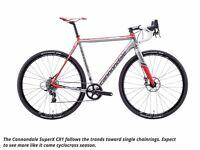 Cannondale SuperX Force CX1 Carbon Cyclocross/Road Bike, Size 56, SRAM 1x11 CX1 HydroR