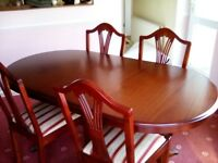 Dining table and for chairs