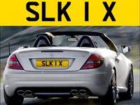 ** SLK 1 X ** Mercedes Merc SLK 1X - Cherished private personalised registration number plate