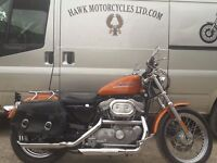 STUNNING 2000 HARLEY DAVIDSON 883 TO XL1200 STAGE 1 TUNE, 4114 MILES, SOLO SEAT FORWARD CONTROLS