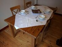 IKEA Dining Table and 6 chairs with cushions