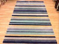 Brand new ainslie 03 rug stripes size 150 cm x 240 cm