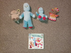 In the Night Garden soft toys and book