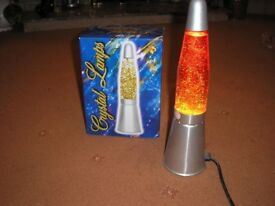 Crystal lava lamp, good working order. £5