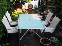GARDEN TABLE & FOUR CHAIRS £50