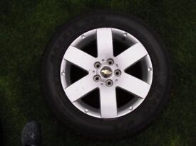 CHEVROLET CAPTIVA ALLOY WHEELS and TYRES set of four
