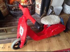 Wooden Vespa Balance bike , as sold at the museum of London shop for £60