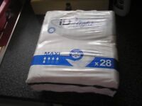 13 packs of 28,id incontinence pads
