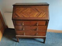 Beautiful antique writing desk free standing