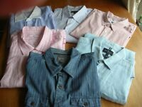 LARGE QUANTITY OF MENS SHIRTS. MOSTLY CASUAL. ALL EXCLUSIVE BRANDS