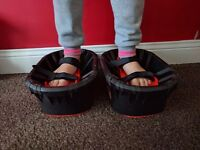 moon shoes - mini trampolines for your feet