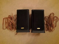 Pair of Tannoy 631 book shelf speakers, stands and 2 x 5m good quality speaker cable