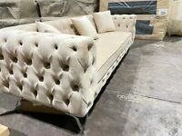 🎉💕CLEARANCE STOCK MUST GO🎉💕BRAND NEW LUXURY STYLISH CHESTERFIELD SOFA🎉💕AVAILABLE IN STOCK🎉💕