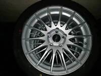 "Brand new 17"" Fox004 alloys with brand new Yokohama tyres"