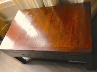 Settler Coffee Table with double drawers from Omni Furniture Edinburgh